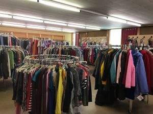 Racks of Clothing at STEP on in Thrift Browerville