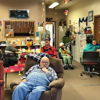 A group picture of STEP's Activity and Senior Center in Browerville, MN.